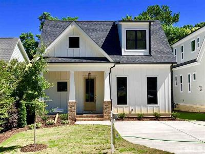 Raleigh Single Family Home For Sale: 2504 Everett Avenue