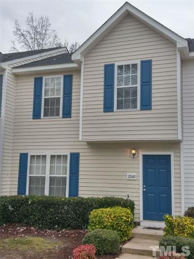 Raleigh Townhouse For Sale: 2243 Violet Bluff Court