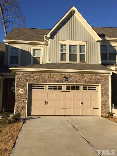 Wake Forest Townhouse Pending: 424 Piazza Way #6