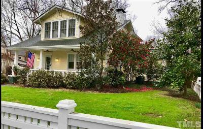 Hayes Barton Single Family Home For Sale: 1605 Scales Street