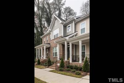 Raleigh Townhouse For Sale: 540 Ledbetter Court