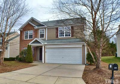 Durham Single Family Home For Sale: 222 Pebblestone Drive