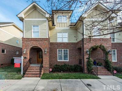 Raleigh Townhouse For Sale: 711 Mordecai Towne Place
