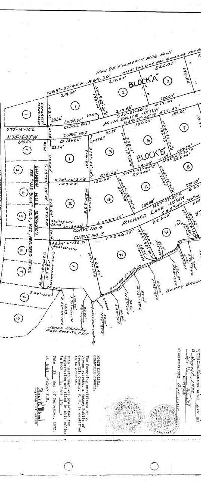 Granville County Residential Lots & Land For Sale: Lots 2 & 3 Shannon Drive