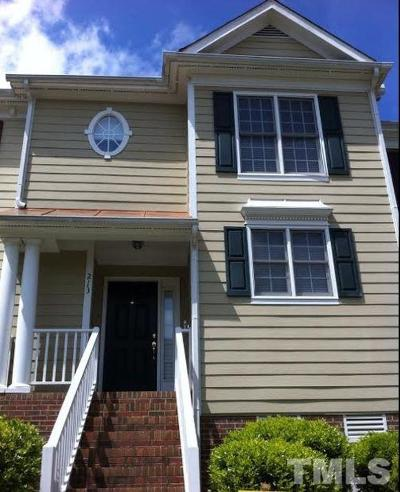 Cary Townhouse For Sale: 213 Madison Grove Place
