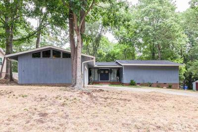 Raleigh Single Family Home For Sale: 2816 Pidgeon Hill Road