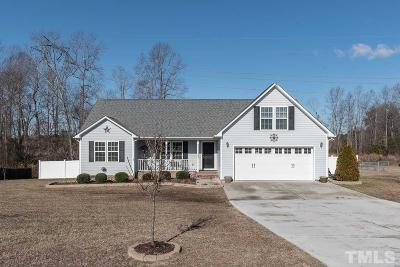 Zebulon Single Family Home Contingent: 120 Gray Bass Court