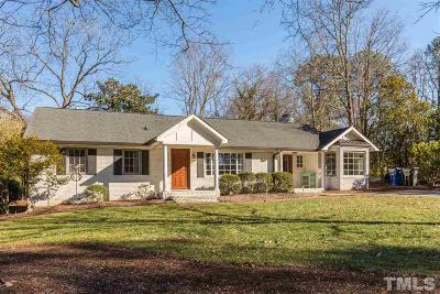Raleigh Single Family Home Contingent: 1410 Chester Road