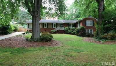 Wake County Single Family Home Contingent: 3712 Dade Street