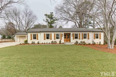 Raleigh Single Family Home For Sale: 1301 Fairfax Drive