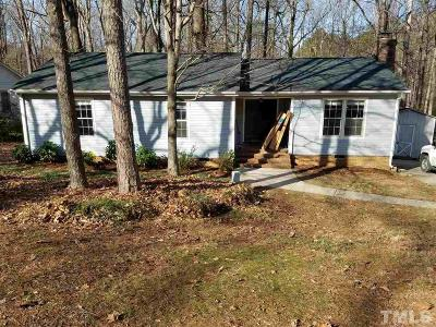 Raleigh Single Family Home Pending: 7415 Post Oak Drive
