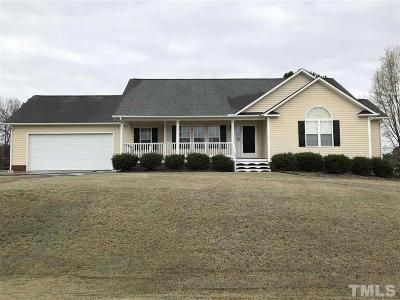 Angier Single Family Home Contingent: 147 Bridle Drive