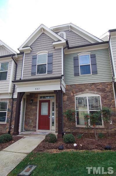 Cary Townhouse For Sale: 507 Matheson Place
