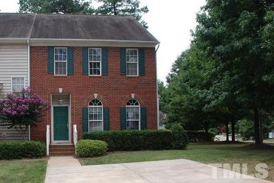 Raleigh Townhouse Contingent: 5637 Slide Rock Lane