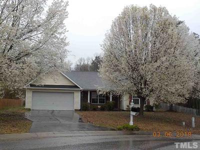 Durham Single Family Home Pending: 309 Lanier Valley Drive