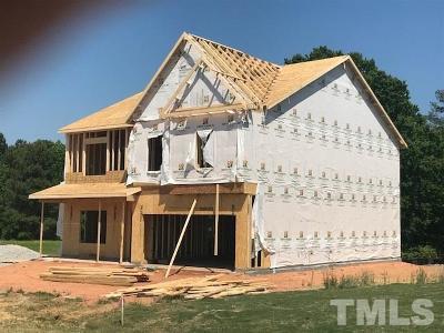 Garner Single Family Home For Sale: 56 Springhill Lane #Lot 5
