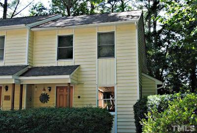 Carrboro Townhouse For Sale: 100 S Peak Drive