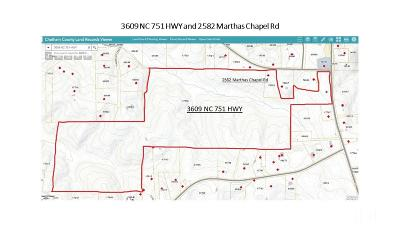 Chatham County Residential Lots & Land For Sale: 3609 Nc 751 Highway