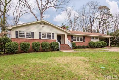 Raleigh Single Family Home Contingent: 3324 Lake Boone Trail
