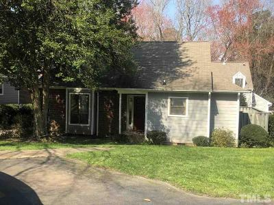 Cary NC Single Family Home For Sale: $155,000