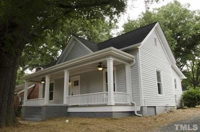 Durham County Single Family Home Pending