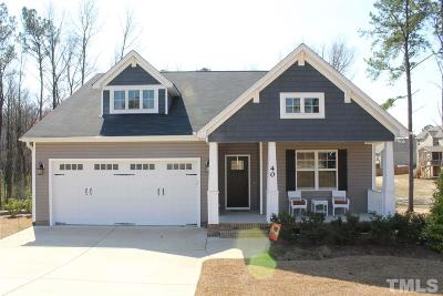 Harnett County Single Family Home Contingent: 40 Ringneck Court