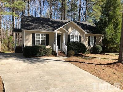 Knightdale Single Family Home Contingent: 5804 Seward Drive