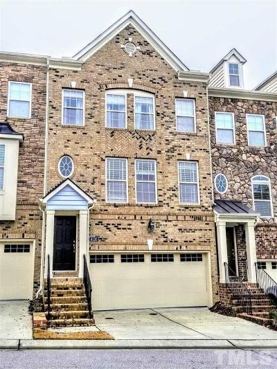 Raleigh Townhouse For Sale: 8120 Primanti Boulevard