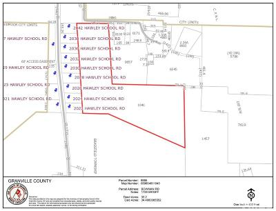Granville County Residential Lots & Land For Sale: Bowman Road