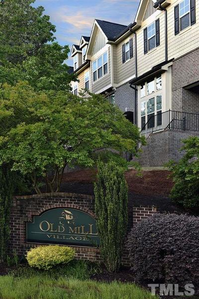 Old Mill Village Townhouse For Sale: 2302 Conrail Alley
