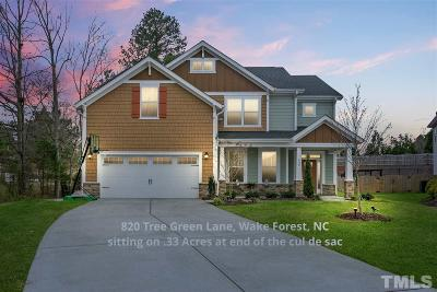 Wake Forest Single Family Home For Sale: 820 Tree Green Lane