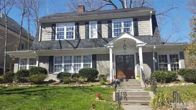 Raleigh Single Family Home For Sale: 2700 Bedford Avenue