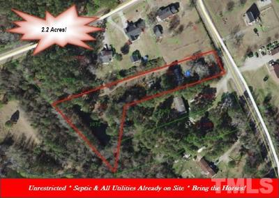 Johnston County Residential Lots & Land For Sale: 580 Hannah Creek Road