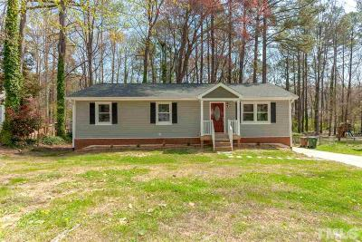 Cary Single Family Home Contingent: 1015 Winwood Drive