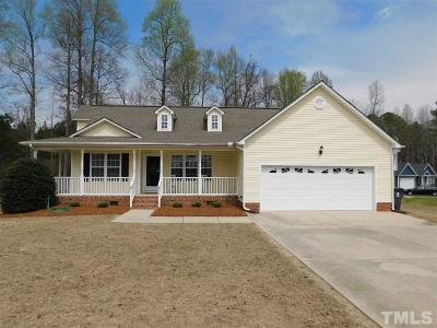 Angier Single Family Home Contingent: 187 Cambridge Drive