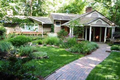 Chapel Hill Single Family Home For Sale: 1014 Highland Woods Road