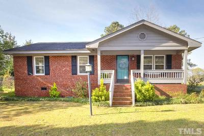 Angier Single Family Home Contingent: 1827 Chalybeate Springs Road