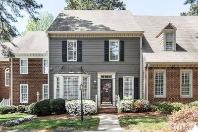Wake County Townhouse For Sale: 6011 Tenter Banks Square