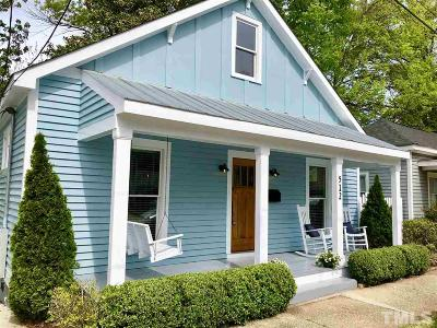 Raleigh Single Family Home For Sale: 512 S Saunders Street