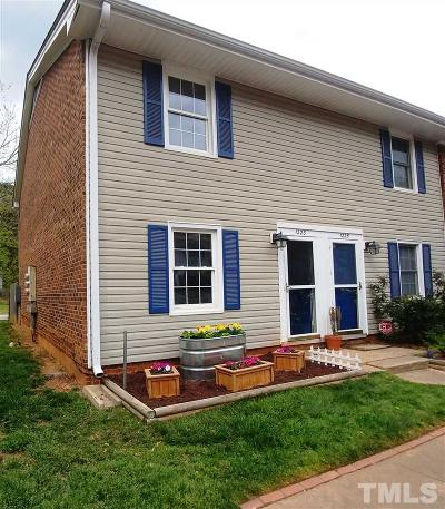 Cary Townhouse For Sale: 1223 Donaldson Court