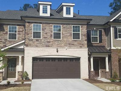 Cary Townhouse For Sale: 512 Fumagalli Drive
