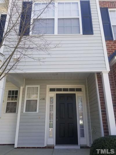 Cary NC Townhouse For Sale: $179,900
