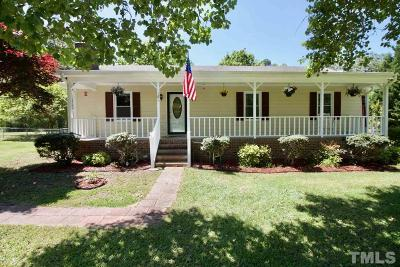 Angier Single Family Home Contingent: 181 Kinnis Creek Drive