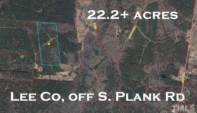 Lee County Residential Lots & Land For Sale: S Plank Road