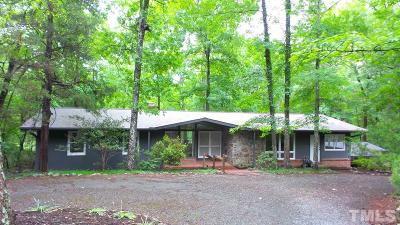Pittsboro Single Family Home Contingent: 1470 Lamont Norwood Road
