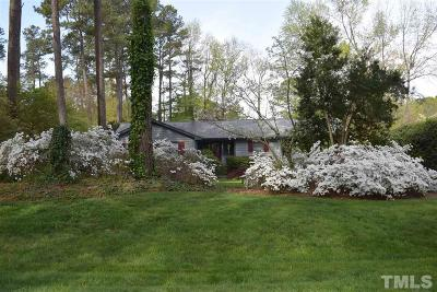 Raleigh Single Family Home Contingent: 6104 Krandon Drive