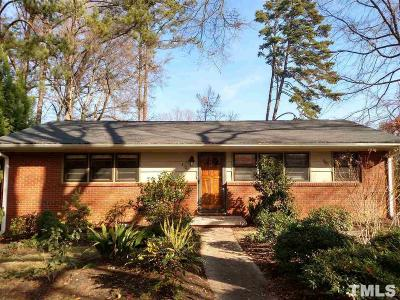 Raleigh Single Family Home For Sale: 3124 Brentwood Road