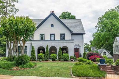 Raleigh Single Family Home For Sale: 1512 Carr Street