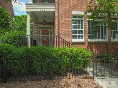 Chapel Hill Townhouse For Sale: 302 W Barbee Chapel Road