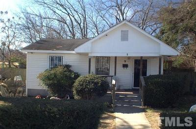 Wake County Single Family Home Contingent: 5 Maple Street